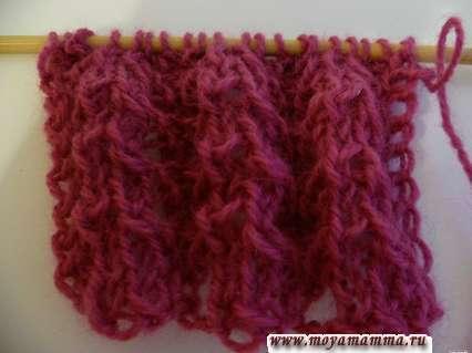 ажур для шарфа 2
