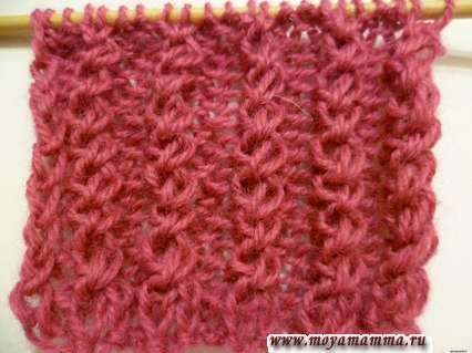Резинка с перемещенными петлями для шарфа