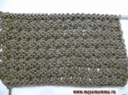Оборотная сторона рельефногоузора для шарфа