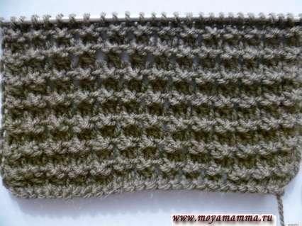 Рельефный узор спицами для вязания шарфа