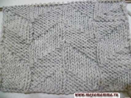 геометрический узор для шарфа