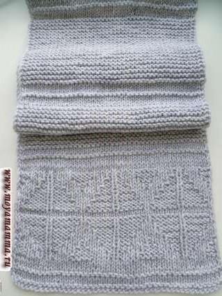 платочный узор для вязания шарфа