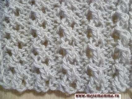 ажурнаярезинка 2х2 для шарфа