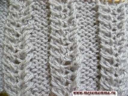 Узор Колосок для вязания шарфа