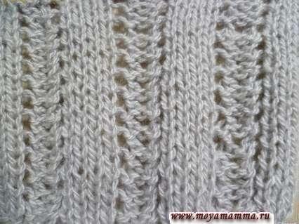 Простой ажур для шарфа с другой стороны