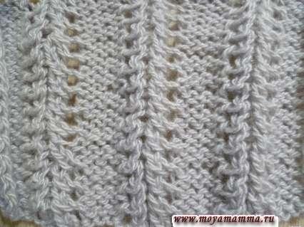 Ажур для вязания шарфа