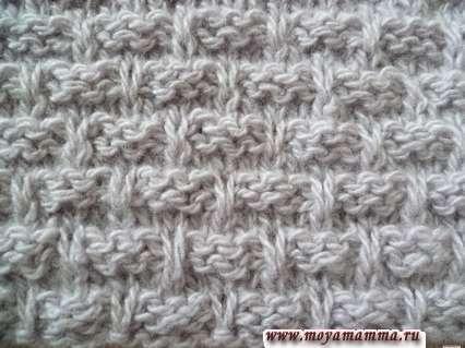 Плотный узор для взания зимнего шарфа