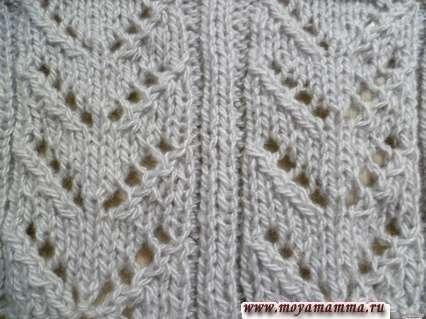 Ажурная вязка для шарфа