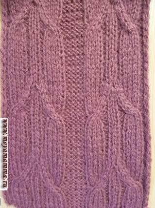 узор вытянутые косы для вязания шарфа