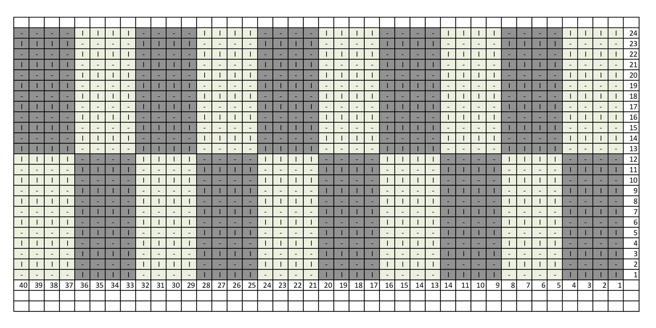 Схема вязания шахматки вертикальными прямоугольниками