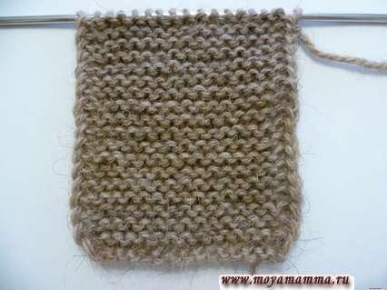 Вязание спинки для жакета