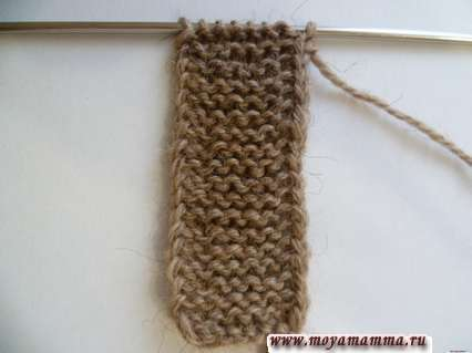 Вязание полочки жакета