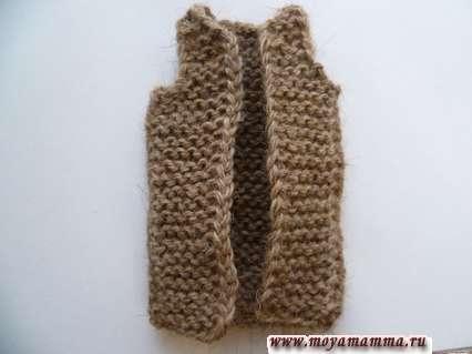 Сборка вязаного жакета