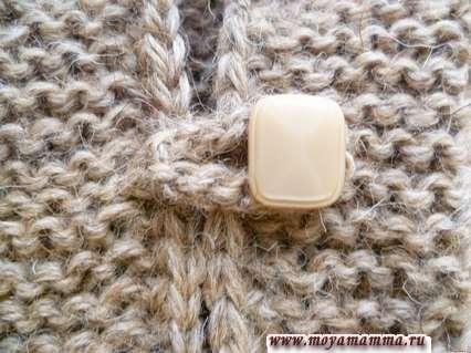 Застежка вязаного жакета