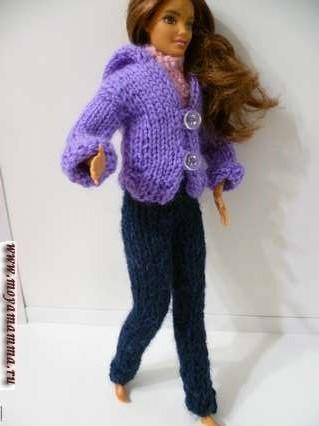 Как связать брюки для куклы