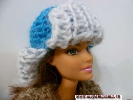 Вязаная шапка- ушанка