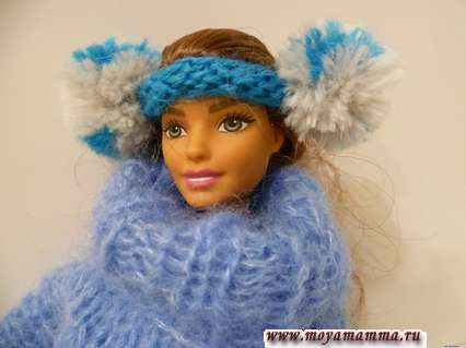Наушники вязаные для куклы
