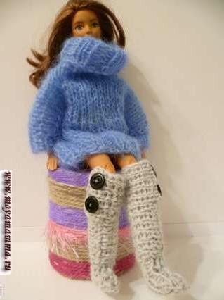 Вязаная обувь для куклы своими руками