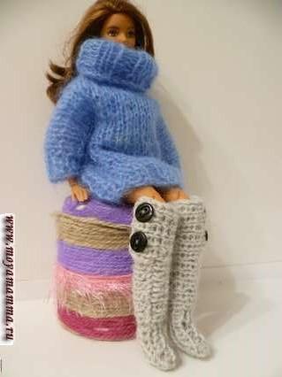 Сапожки для куклы своими руками