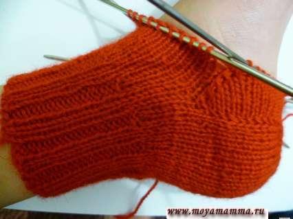 Способы вязания пятки носка на спицах