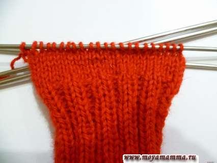 вязание носка