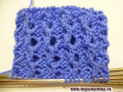 Ажурная резинка для вязания манжеты женской варежки
