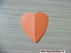 Сердечко для поделки к дню св. Валентина
