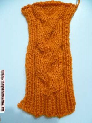 перед вязаного платья для куклы