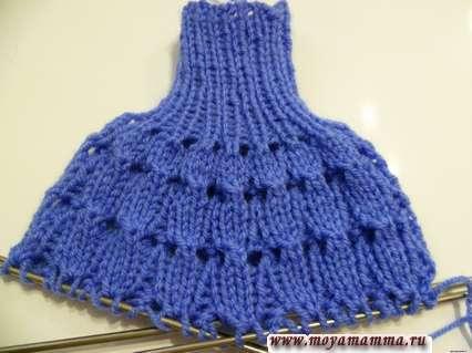 описание вязания вечернего платья для куклы