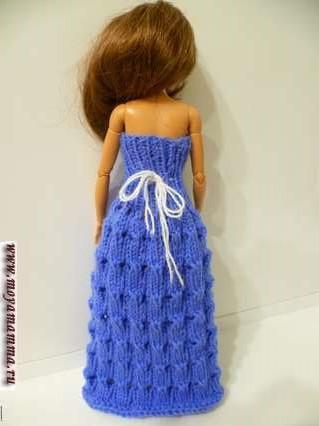 вечернее ажурное длинное платье для барби