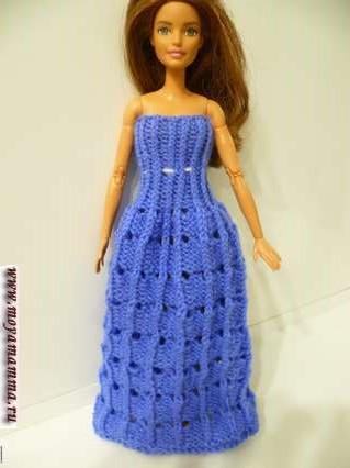 Двустороннее вязаное вечернее платье на спицах