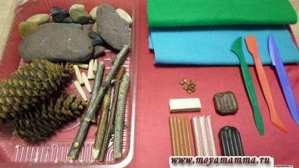 Природный материал для изготовления бобра