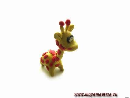 Жираф из пластилина пошагово