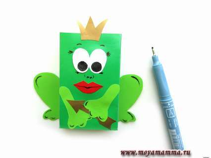 Лягушка - царевна из цветной бумаги