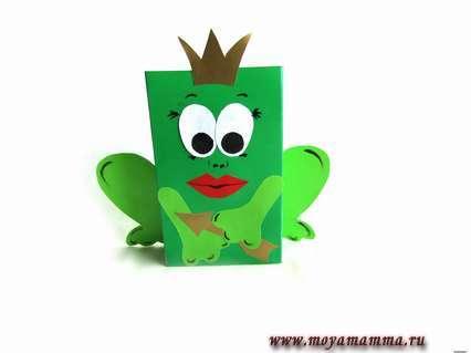 Царевна — лягушка из цветной бумаги