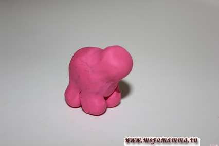 прикрепить голову к туловищу слона