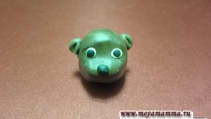 Голова из пластилинадля бобра