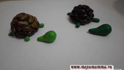 Изготовление черепахи поэтапно