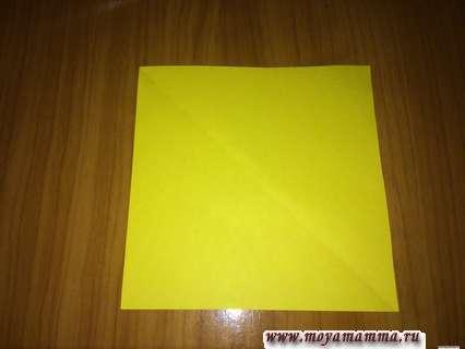 Лист желтой бумаги для открытки киригами