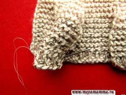 Сшиваем рукава на курточке