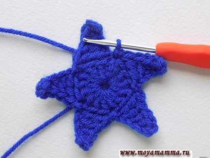 Вязание звезды крючком