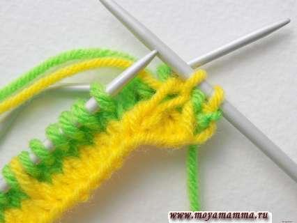 Вязание узора елочки