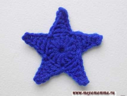 Звезда связанная крючком