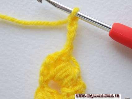 разворачиваем вязание