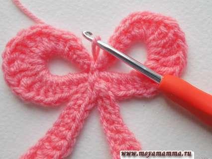 Вязание ленточек бантика крючком