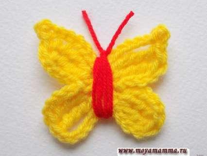 Вязание крючком бабочки
