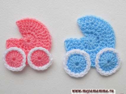 Вязаные крючком детские колясочки