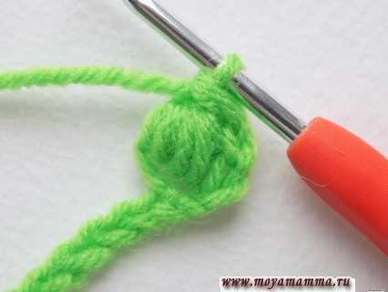 Провязывание всех петель крючком