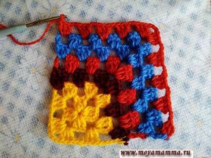 Бабушкин квадрат для шали
