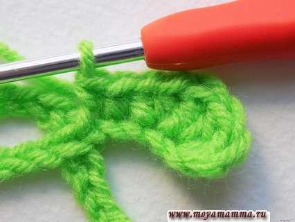 Вязание клевера крючком